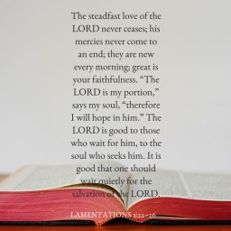 Lamentations 3-22-26